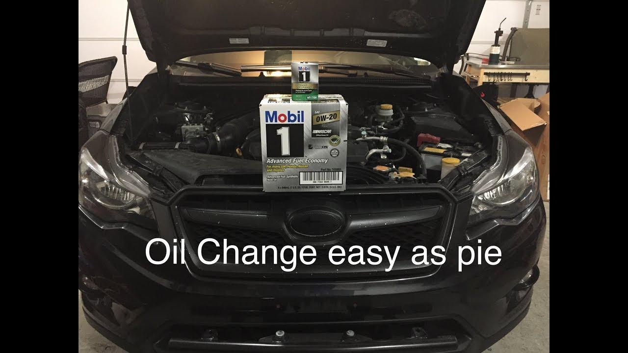 Subaru Xv Crosstrek Oil Change W Fumoto Valve