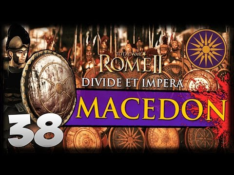 THE FALL OF CIMMERIA! Total War: Rome II - Divide Et Impera - Macedon Campaign #38