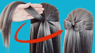 2 Простые и Красивые Прически с бантиками Прически в школу на каждый день HOW TO easy hair bow
