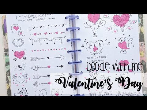 Doodle with me: Valentine's Day - BuJo Doodles   Nicole's Journal