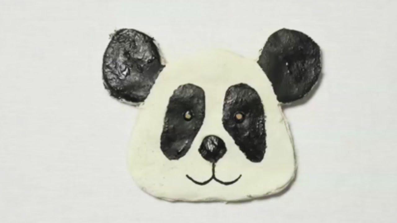 fabriquer un panda en p te sel youtube. Black Bedroom Furniture Sets. Home Design Ideas