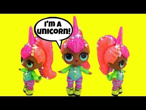 LOL Surprise Doll 🦄 UNICORN CUSTOM 3 🦄 LOL Wave 2 😍 Doll Video 👧 Color Change ? Big Sister