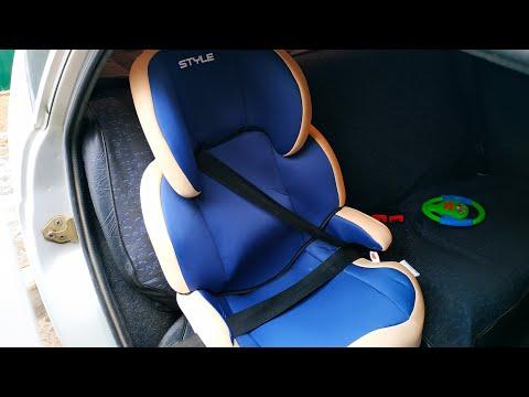 Как установить детское автокресло 15 - 36 кг в автомобиль штатными ремнями безопасности