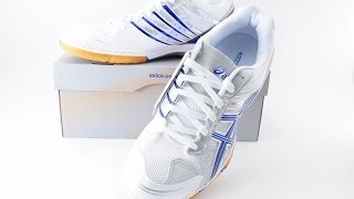 ASICS Japan Attack BLADELYTE 3 Table Tennis Shoes TPA329 White Blue Ping Pong  93271