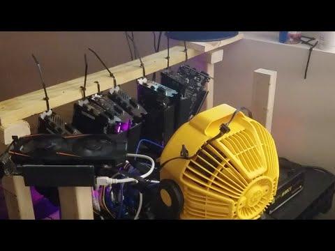 DeWalt 20v Fan Keeping The Mining Rig Cool !!