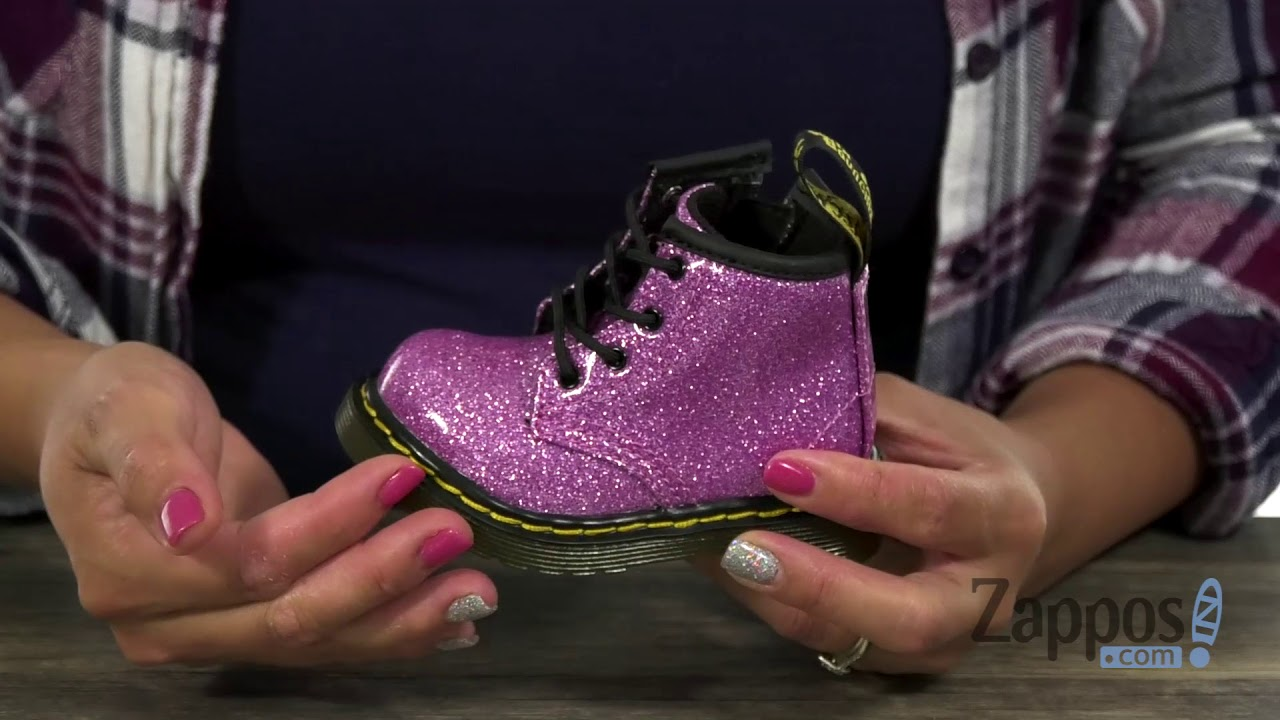 newest style available highly praised Dr. Martens Kid's Collection 1460 Patent Glitter Infant Brooklee Boot  (Toddler) SKU: 9062484