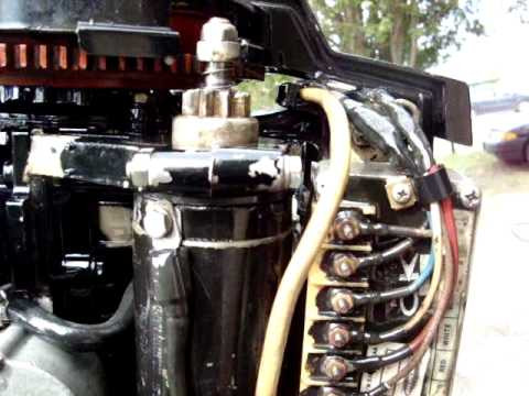 Force Outboard Ignition Wiring Diagram 65 Hp Merc 1975 3 Cylinder Youtube
