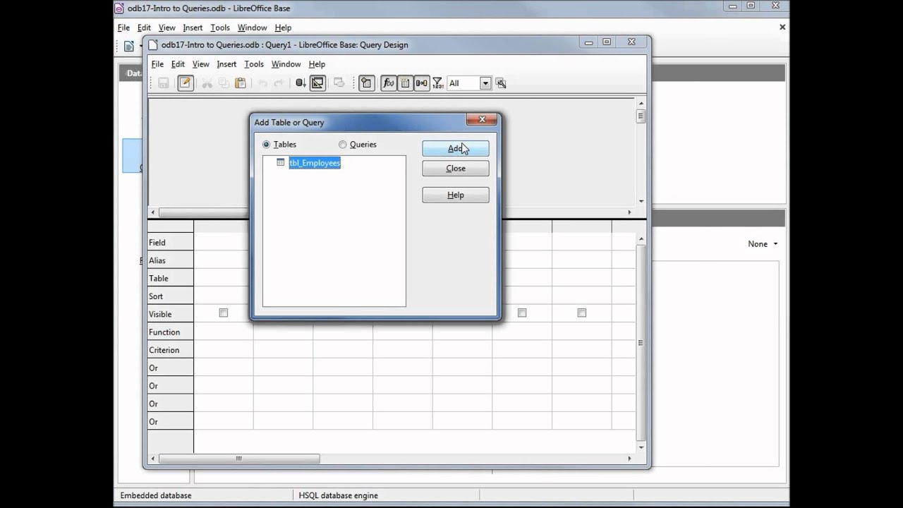 LibreOffice Base (18) Intro to SQL Debugging - YouTube