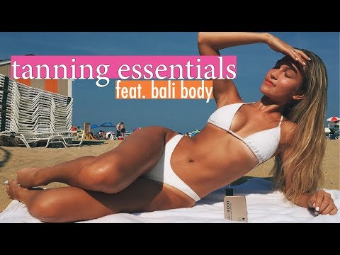 tanning essentials: how to get that bronzed glow feat. bali body | maddie cidlik