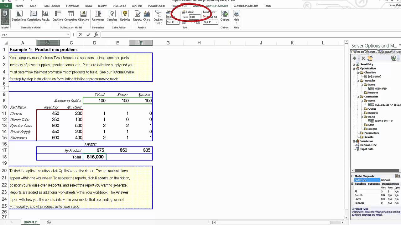 Solver Add-in for Excel Online - YouTube