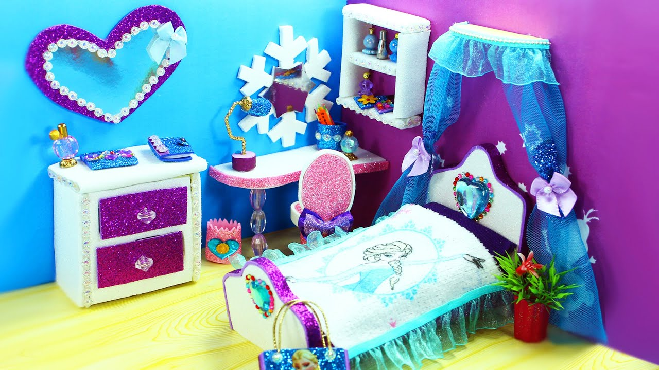 Diy Miniature Frozen Dollhouse Bedroom For Disney S Elsa