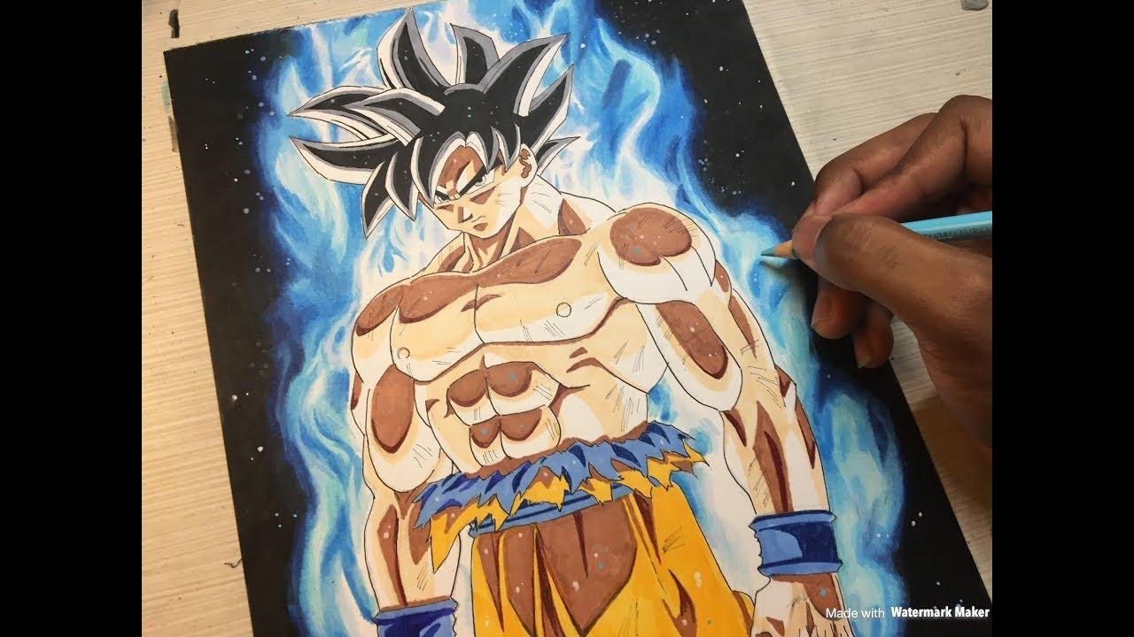 Goku new form ultra instinct episode 109 110 inktober drawing 8 youtube - Goku ultra instinct sketch ...