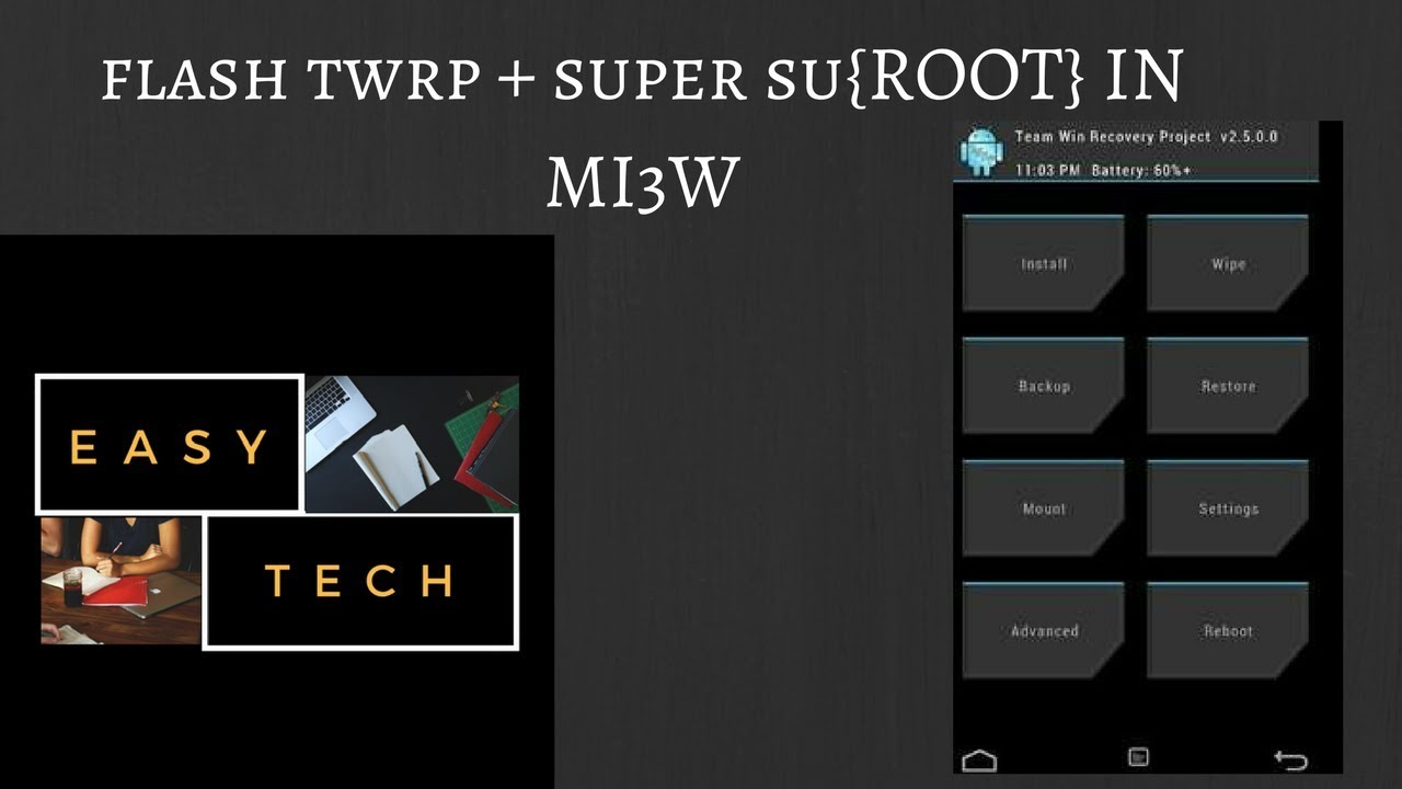HOW TO ROOT MI3W [FLASH TWRP + SUPERSU] MIUI GLOBAL 8 5 STABLE EASY TECH