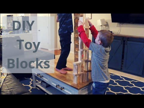 How to Build Super Fun Toy Blocks or Dominos for Kids - Easy DIY Project