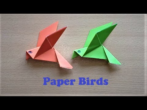 How To Make Paper Bird Origami Flapping Birds Paper Bird Making