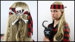 Skull & Cross Bones Pirate Hair | Halloween Hairstyle | BabesInHairland.com