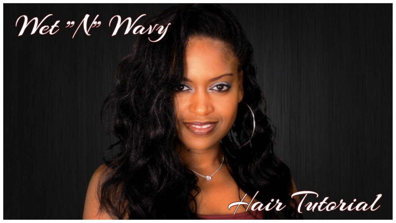 Wet ''N' Wavy Natural Hair Tutorial
