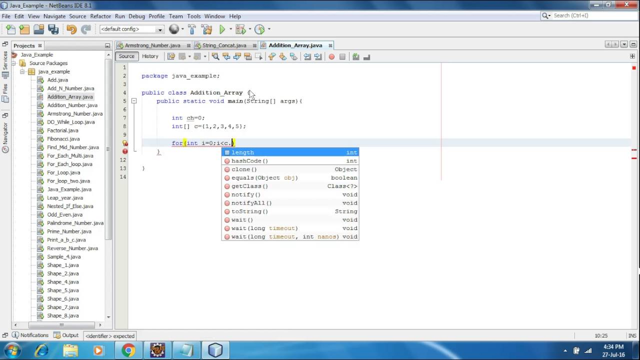 How To Perform Addition Of Given Number Of Array Program In Java