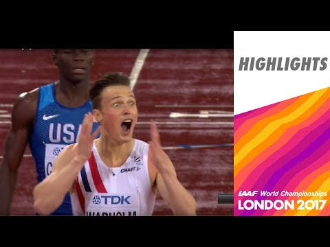 WCH London 2017 Highlights - 400m Hurdles - Men - Final - Warholm wins!