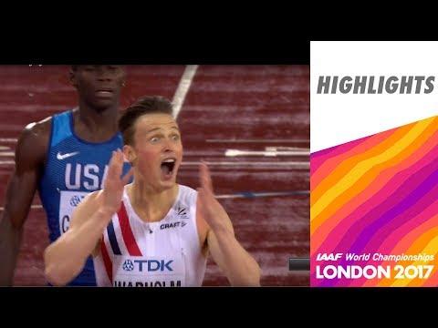 WCH London 2017 Highlights - 400m Hurdles - Men - Final - Warholm wins!