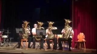 """PSY - Gangnam Style - """"Kominiarze"""" Tuba Quartet"""