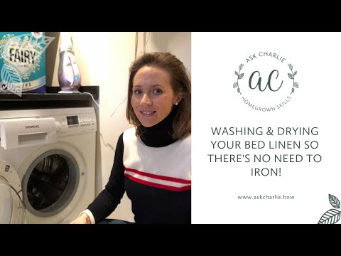 Ask Charlie - Washing & drying your bed linen so there's no need to iron!