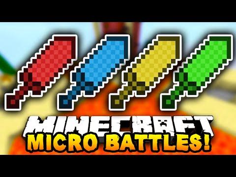 """Minecraft MICRO BATTLES! """"FIST FIGHT!"""" #20 - w/ PrestonPlayz & The Pack!"""