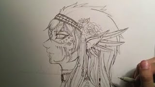 Tribal Steampunk Drawing