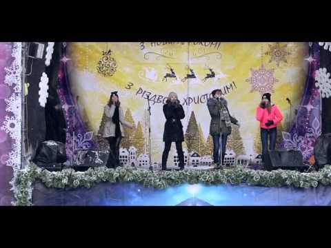 С Рождеством 2016 Днепропетровск парк Шевченко, концерт