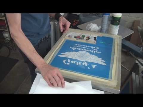 How To Screen Print: Job Break Down & Cleaning Production Tips