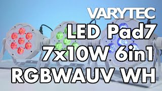 Varytec LED Pad7 7x10W 6in1 RGBWAUV WH - not just for white weddings