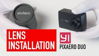 Yi 4k Action Camera Lens Replacement And Focus Ring With Pixaero Duo Lens Youtube