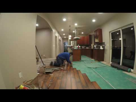 Laminate Floor Installation Time Lapse Umbrella Construction (GWD Construction)