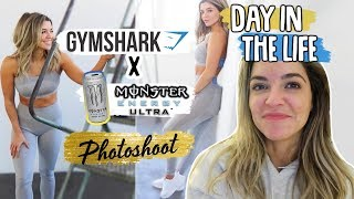 MY DREAM OMG Gymshark X Monster Photoshoot!! | DAY IN THE LIFE VLOG