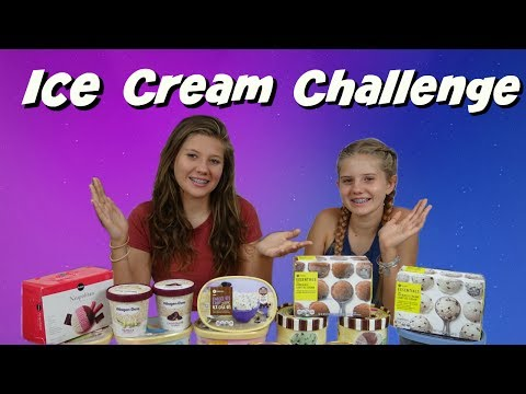 REAL VS FAKE: ICE CREAM CHALLENGE || Taylor and Vanessa