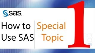 How to Use SAS - Special Topic - Macro Coding and Macro Variables