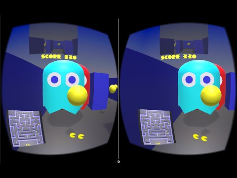VR Pacman - Google Cardboard For Unity3D