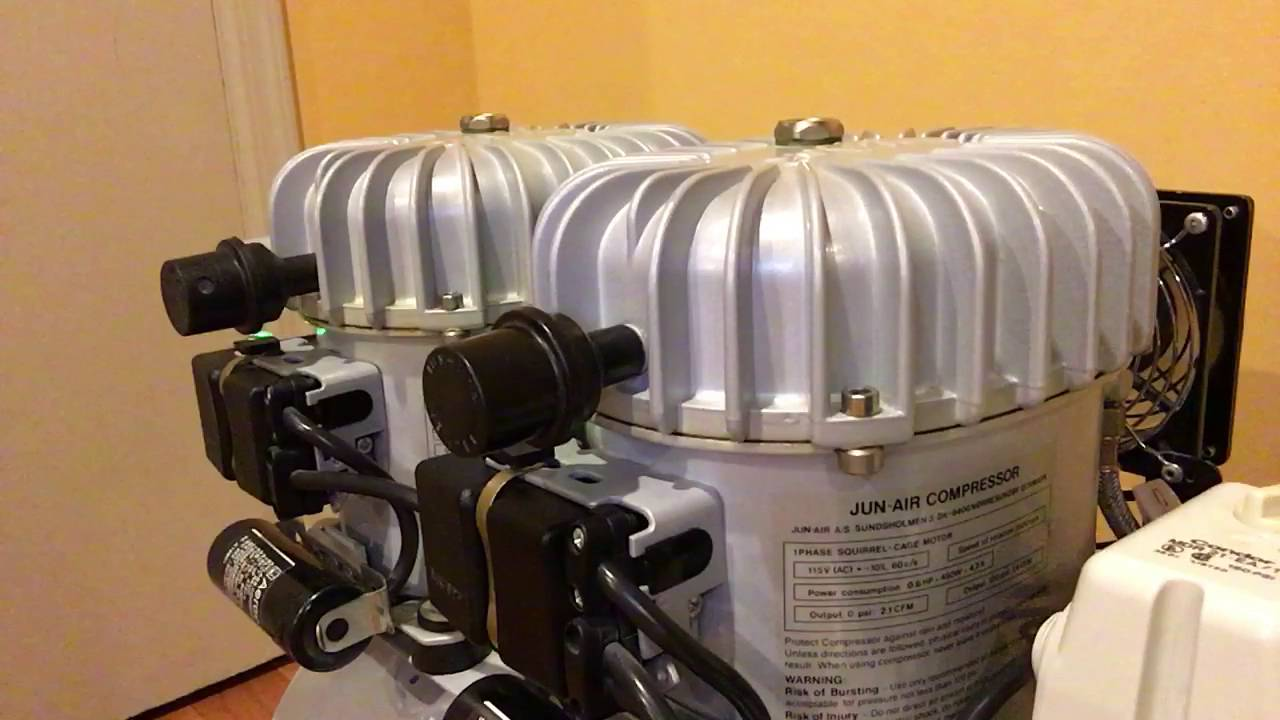 jun air 12 50 1hp oil lubricated compressor 13 gallon compressor rh youtube com