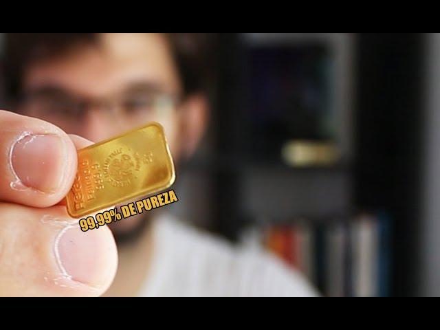 ¿Es posible MASTICAR el ORO PURO?   Comprobando la dureza del oro