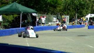 Go Kart Racing - 5 Year Old Crashes! - Alameda County Fairgrounds