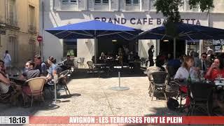 Avignon : les terrasses font le plein sur la place Saint-Didier