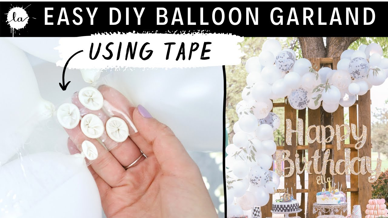 DIY White Balloon Decor