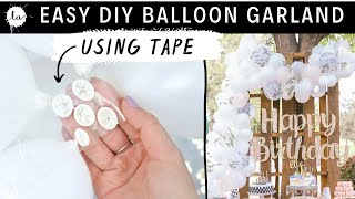 DIY White Balloon Decor | Dollar Store Happy Birthday Sign | Pallet Birthday Decor