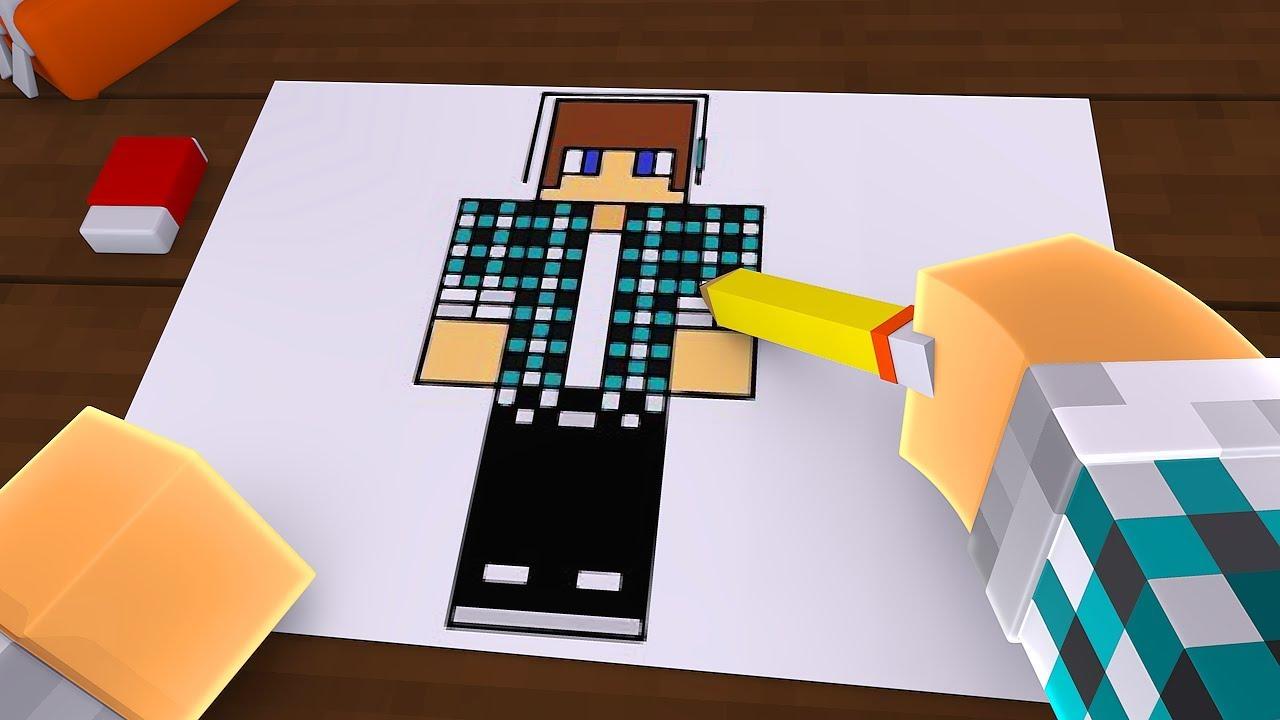 Colorindo O Minecraft Com Cores Minecraft Desenho 1