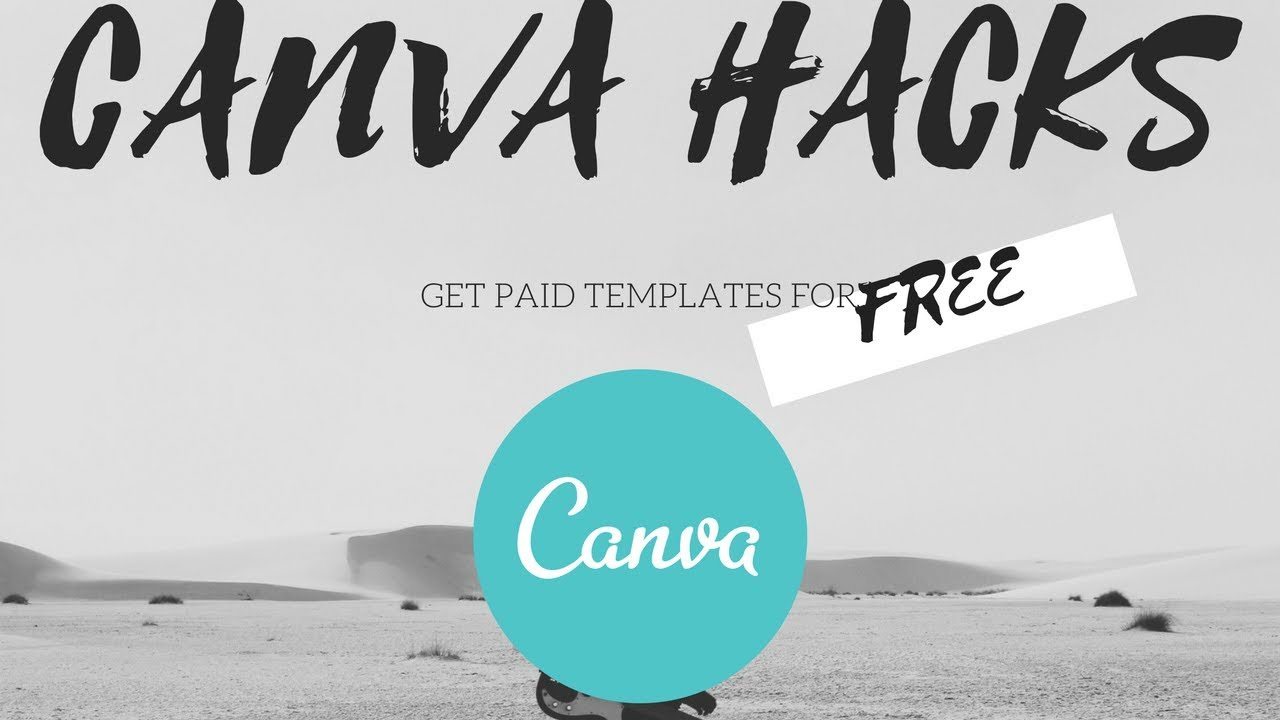 Get canva templates for FREE! Simple hack that will blow your mind  It's  simple