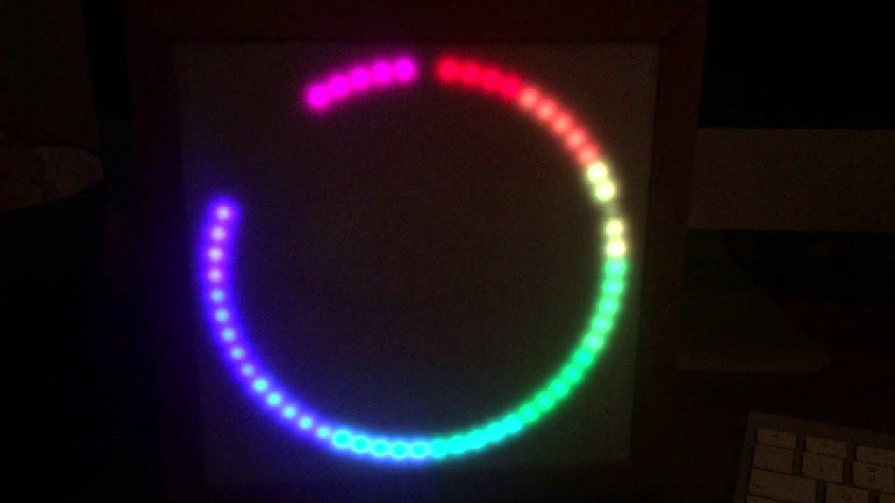 Neopixel arduino clock finished youtube