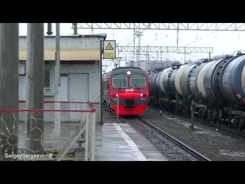 Электропоезд ЭД4М-0054 станция Люберцы-2