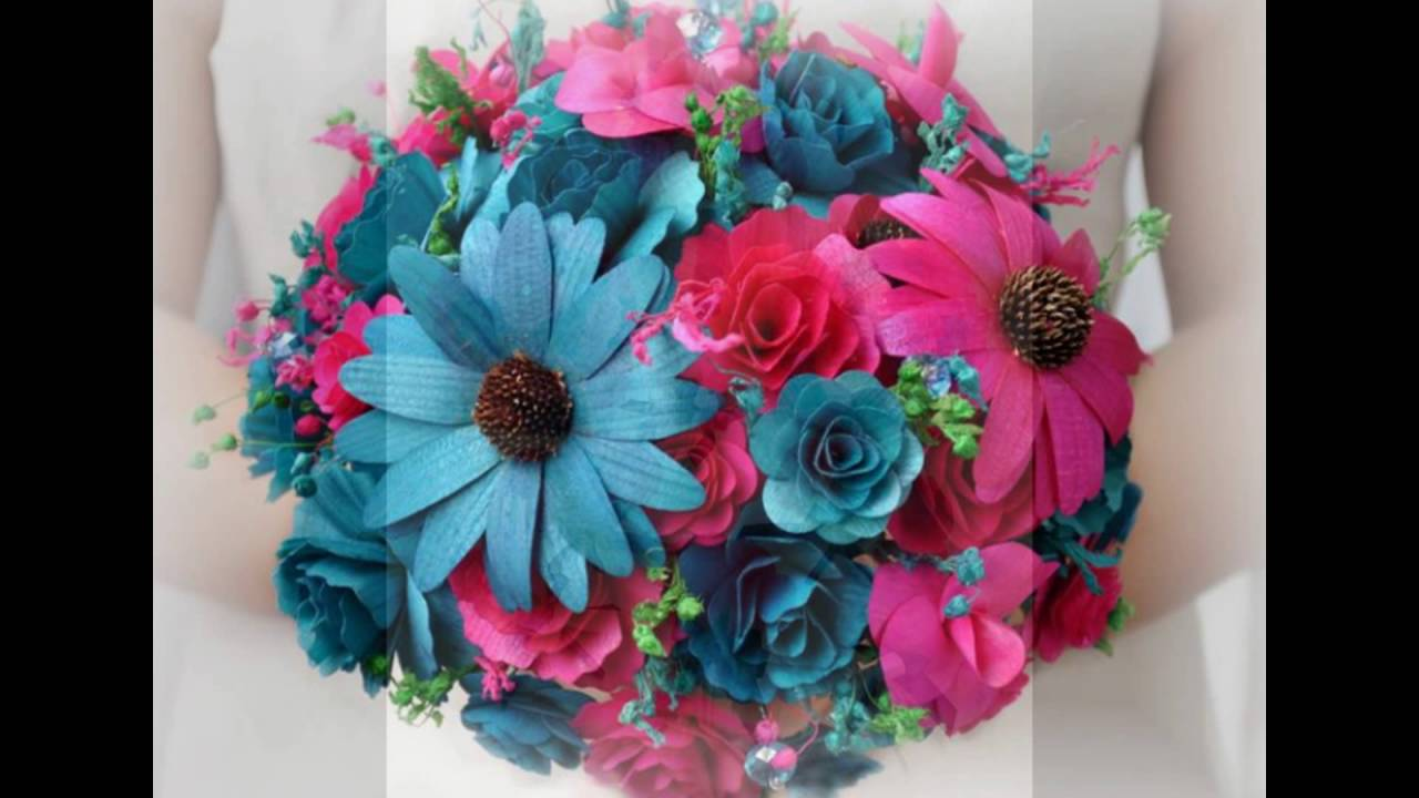 Blue And Pink Flower Bouquets Youtube