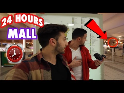 (HIGH SECURITY) 24 HOUR OVERNIGHT GIANT MALL FORT ⏰    CHASED BY SECURITY in a GIANT MALL OVERNIGHT
