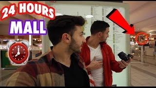 (HIGH SECURITY) 24 HOUR OVERNIGHT GIANT MALL FORT ⏰  | CHASED BY SECURITY in a GIANT MALL OVERNIGHT